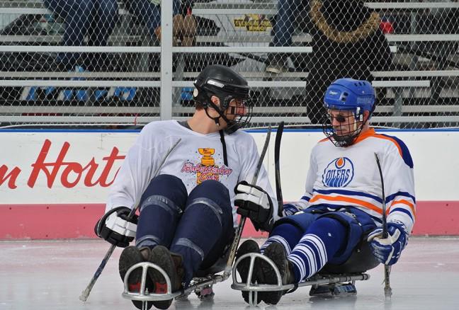 Sledge hockey game. CREDIT: Laura Meggs - Downtown Kingston!