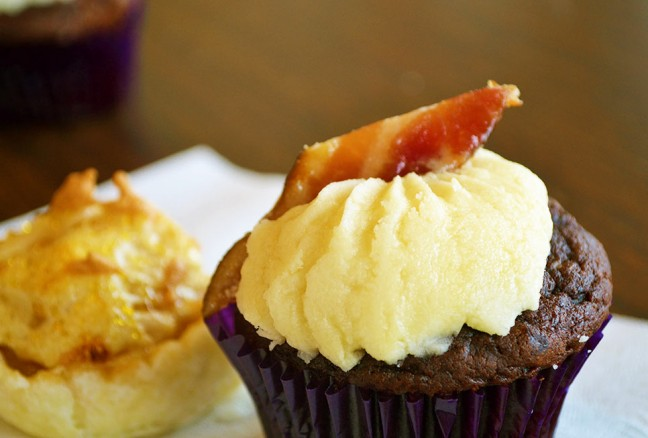 Simply cannot go home without having a maple bacon cupcake!