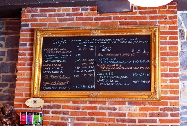 Simplicity is all that is needed for this menu at The Common Market.