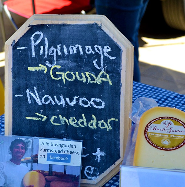 A new addition to the market – Bushgarden Farmstead Cheese, it's really gouda!