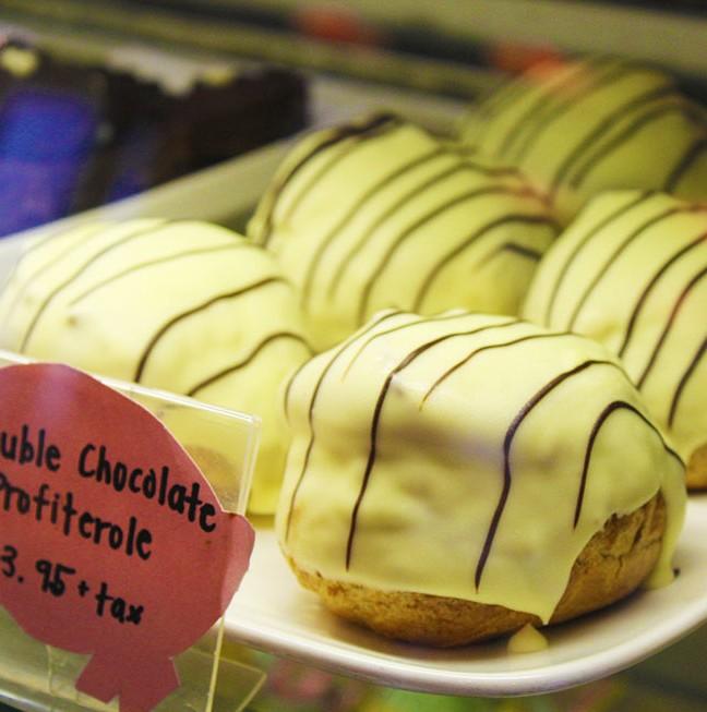 Indulge in Pan Chanco's popular double-chocolate profiterole!