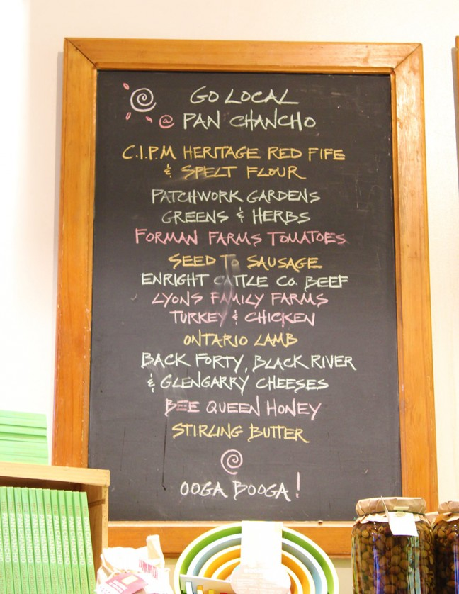 A full list of products available from local producers.