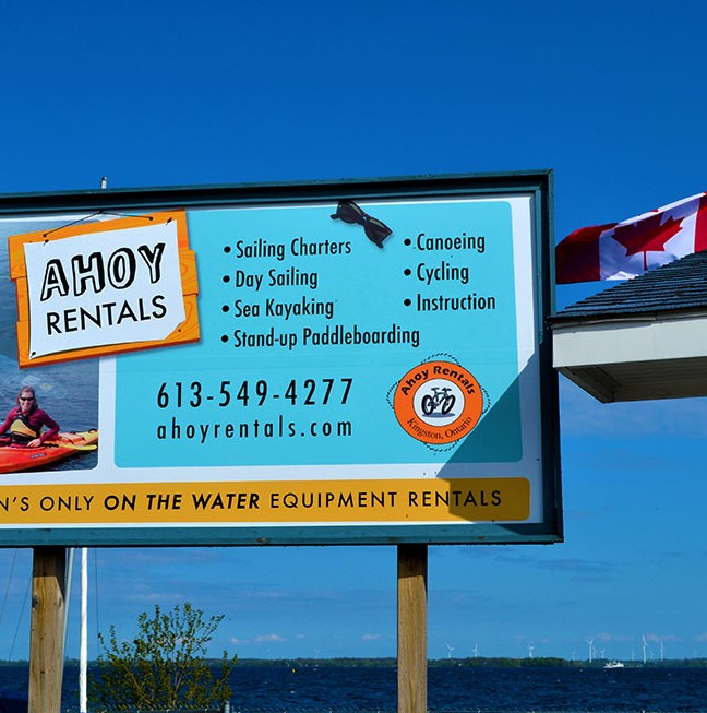 Kingston's only on the water equipment rentals.