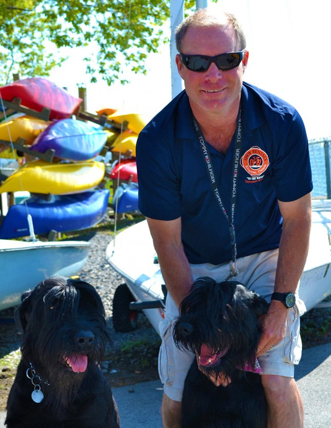 Owner & operator Andrew Kelm with his furry friends – Katya and Mischa.