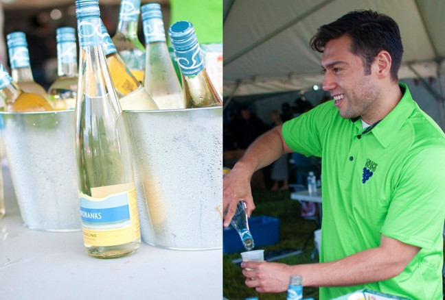 Sandbanks winery was serving their local favourites from Prince Edward County.