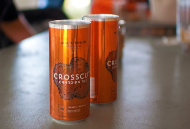 The Crosscut Canadian Ale hails from Bath Ontario on a family farm run by the Mackinnon Brothers.