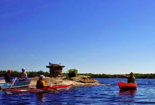 The canoeshuk outside Delta, Ontario to mark a historic canoe trade route.