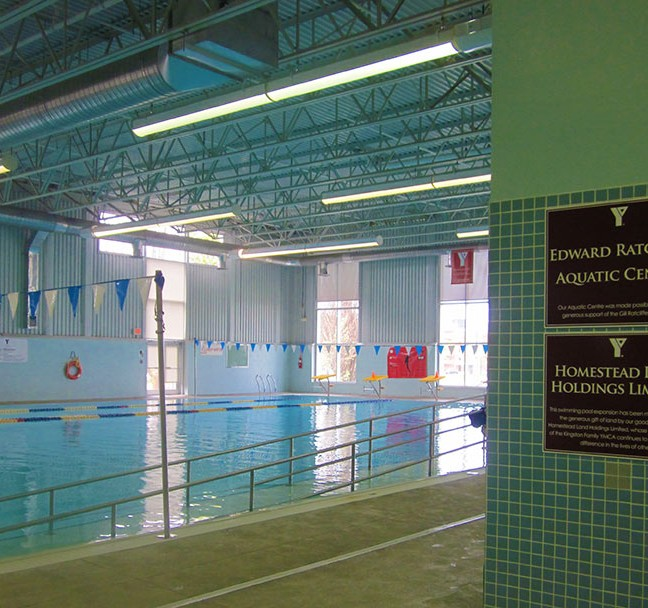 The Wright Crescent Y offers two accessible pools, a lap pool and a warmer leisure pool.