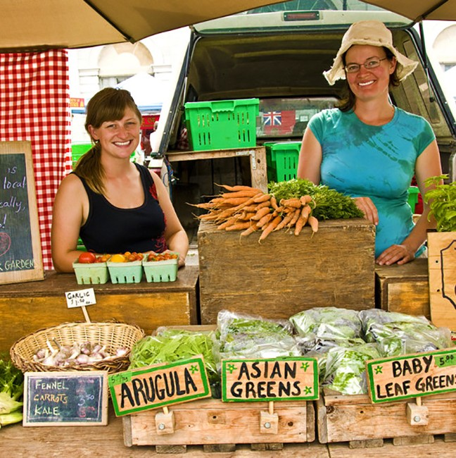 The team from Patchwork Gardens has you covered for produce!