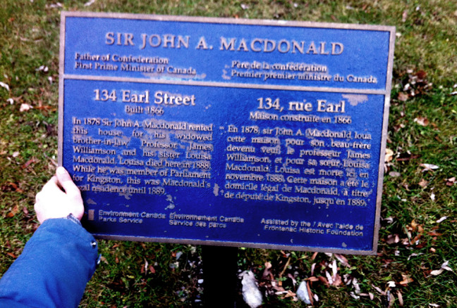 One of the many historic plaques found on this walk, and many other sites around Kingston