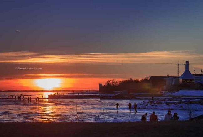 Sunset skate on Lake Ontario-Photo courtesy of Suzy Lamont