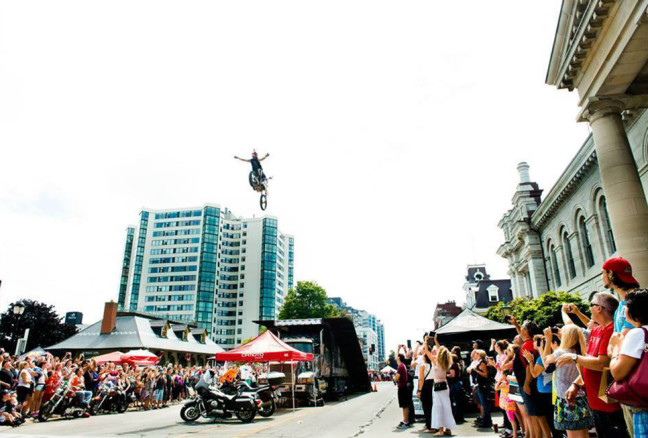 Just one of the adrenalin-pumping motorcycle performances from last year. (Photo:Kingston Show N Shine)