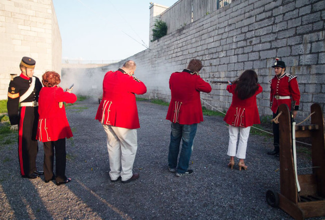 Day #1: Firing muskets at Fort Henry!