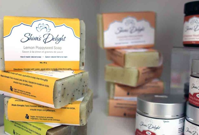 Waterfront Gifts & Apparel carries the full line of Shiva's Delight bath and body products.