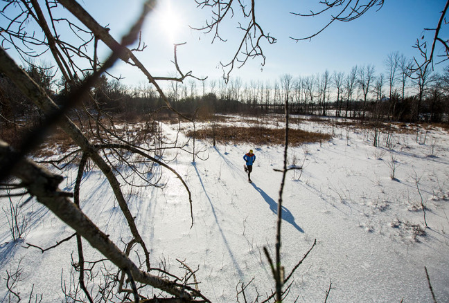 Running or walking, snowshoeing is a great way to explore your favourite trails…..or better yet, off trail! Photo credit: Rob Whelan