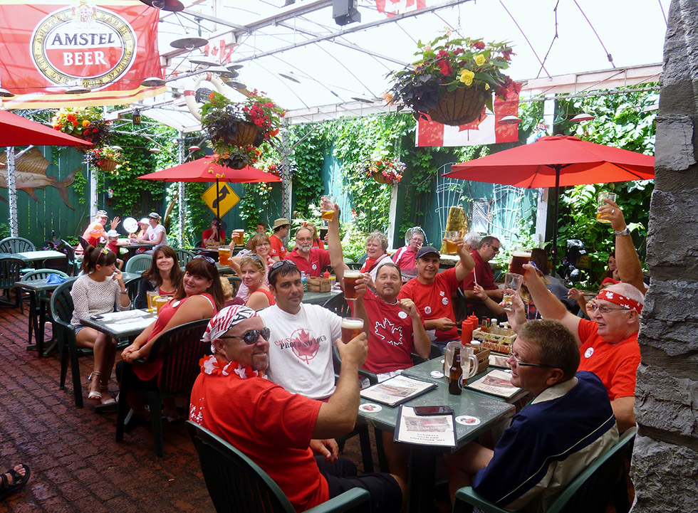 Kingston Brewing Company's awesome patio on Canada Day. Photo by Kingston Brewing Company.
