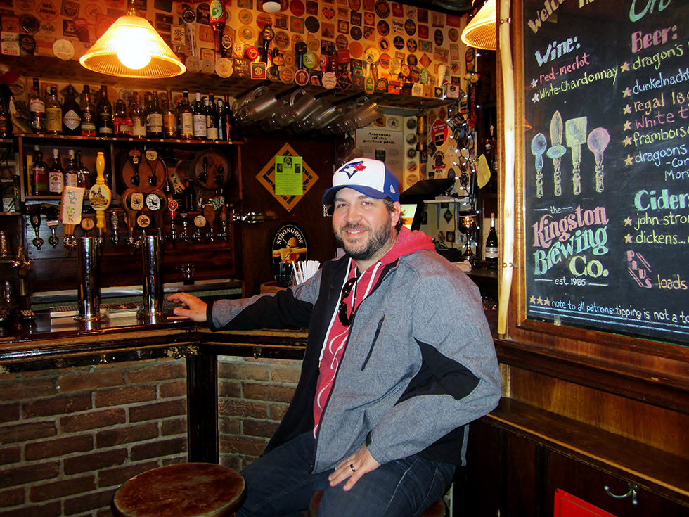 Chef Colin Burtch has a time out at the bar. Photo by Lindy Mechefske