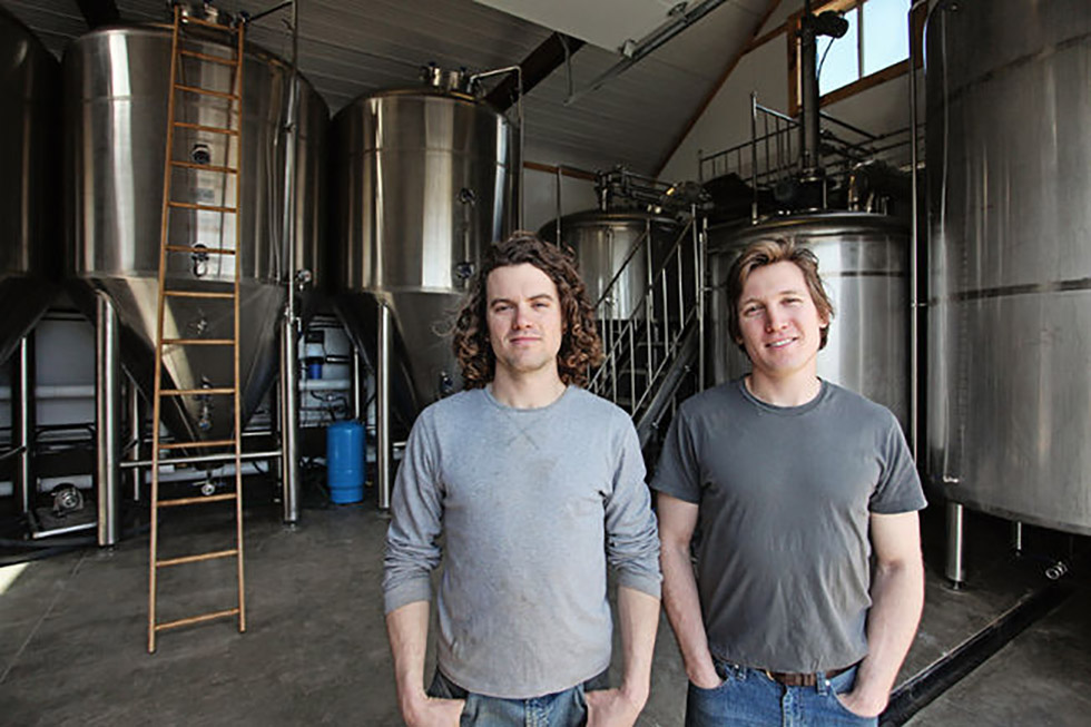 Daniel and Ivan MacKinnon. Photo by: Mackinnon Brothers Brewing.