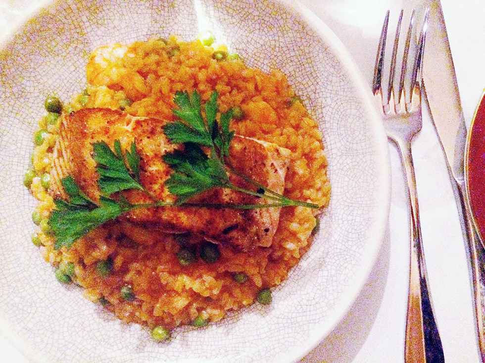 Salmon Risotto from Bayview Farm.
