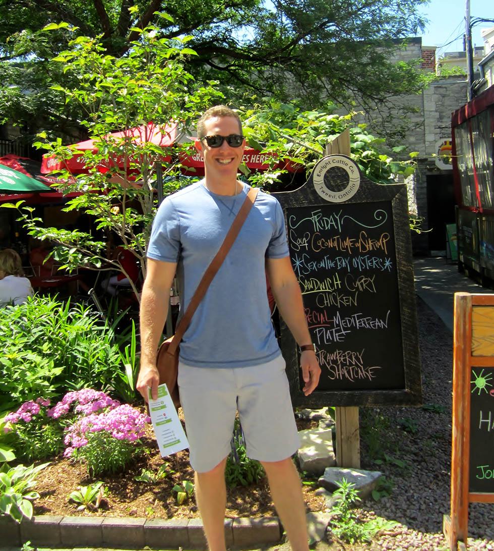 Kingston Food Tour guide Daniel Barrett