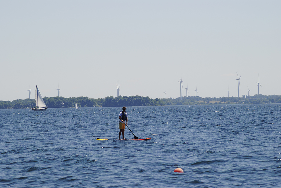 By wind or paddle