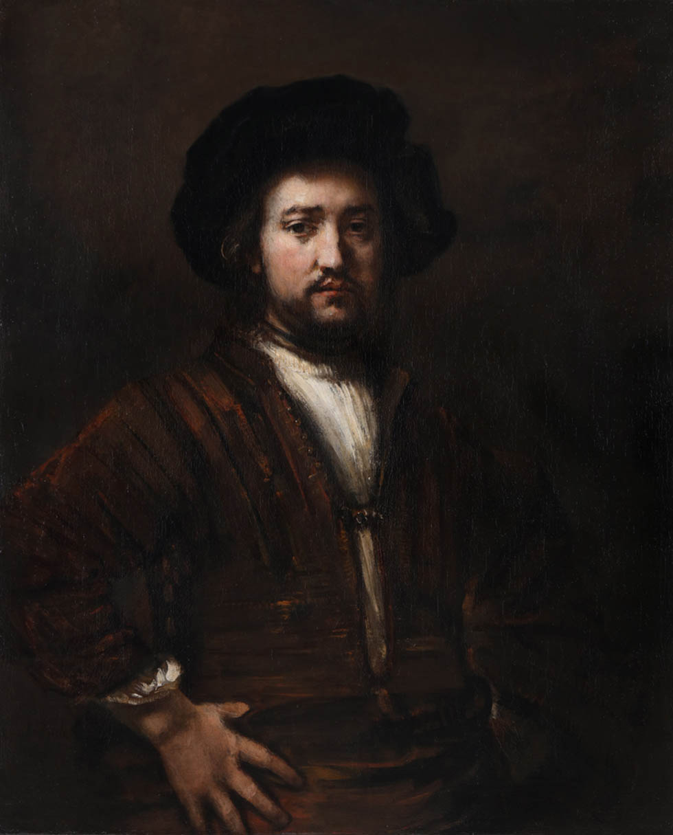 Rembrandt van Rijn, Portrait of a Man with Arms Akimbo, 1658, oil on canvas, Gift of Alfred and Isabel Bader, 2015 (58-008).Photo via Bernard Clark