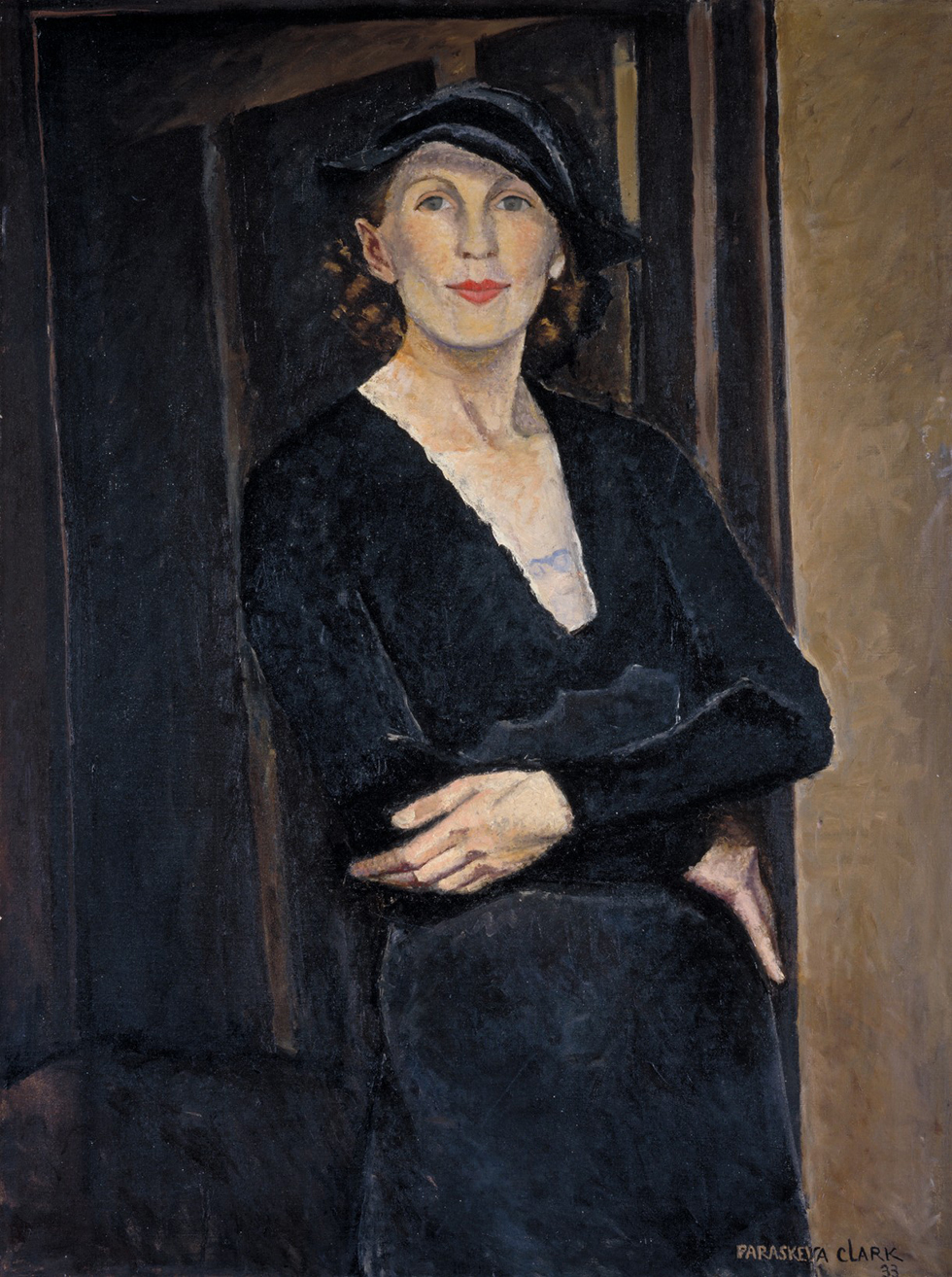 Paraskeva Clark, Myself, 1933, oil on canvas. National Gallery of Canada, Ottawa. Purchased 1974 (18311) Photo © NGC © Clive Clark, Estate of Paraskeva Clark. From the exhibition The Artist Herself: Self-Portraits by Canadian Historical Women Artists,2 May–9 August 2015. Photo via The Agnes Etherington Art Centre.