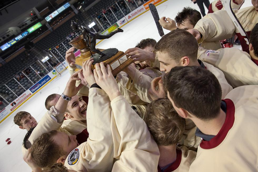 """The Carr-Harris Cup trophy, known as """"Lennie,"""" is named after the first game's lone scorer. (Flickr/Queen's University)"""