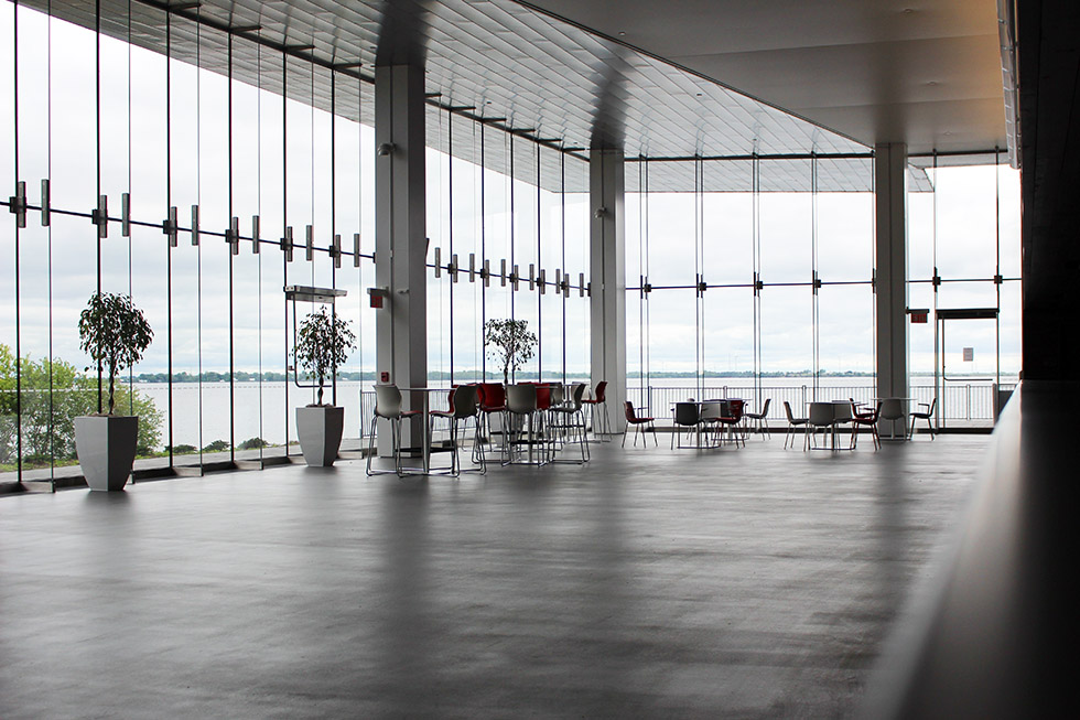 The beautiful lobby, featuring some of the best seats in the house.