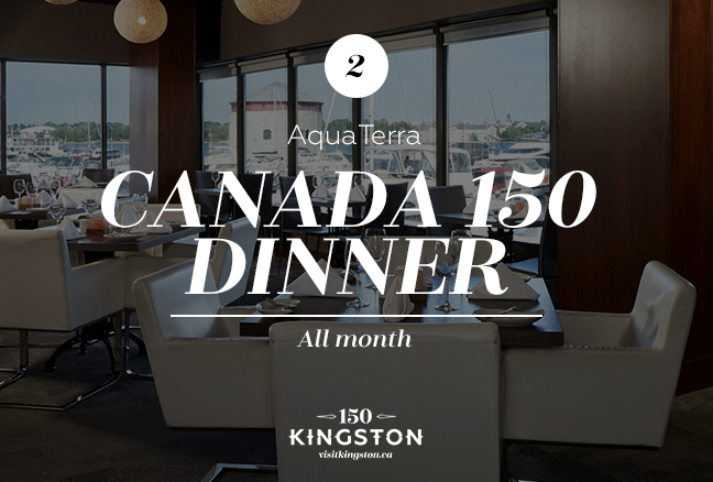 Canada 150 Dinner at AquaTerra - All month