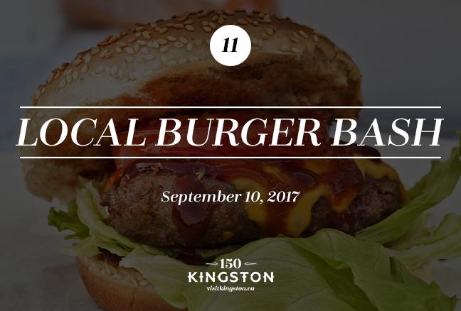 Local Burger Bash - September 10
