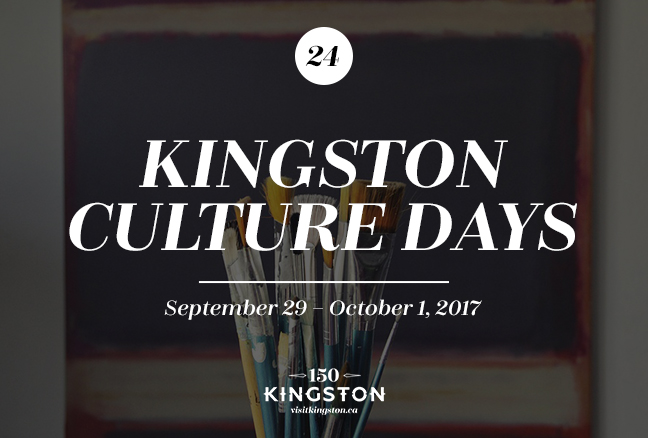Kingston Culture Days - September 29-October 1
