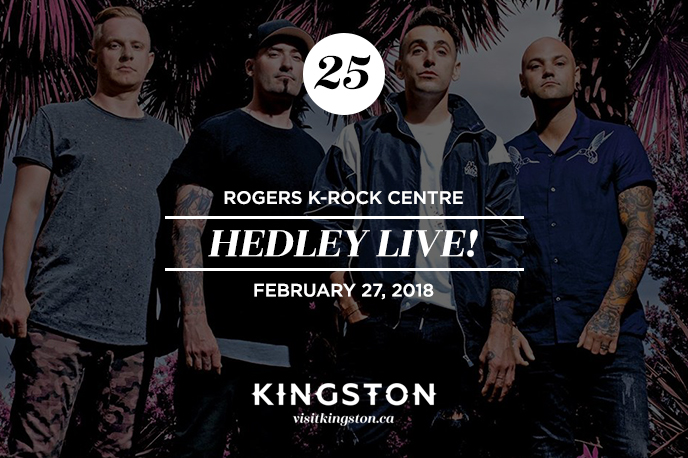 Hedley at the Rogers K-Rock Centre